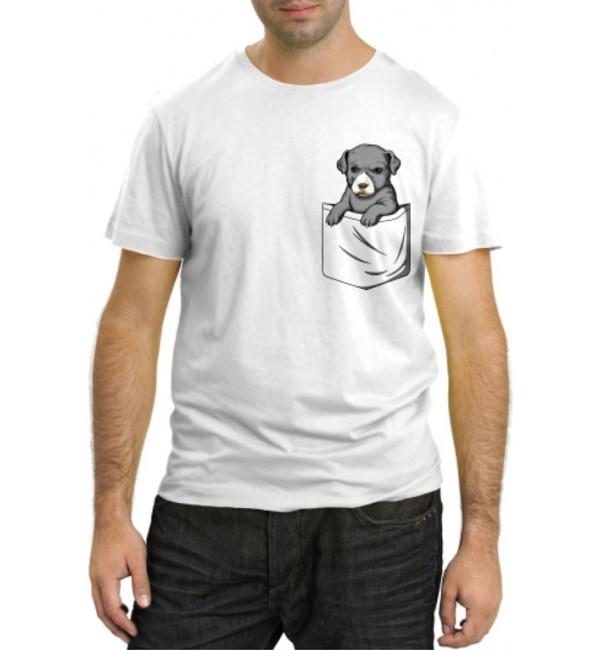 Модная футболка Щенок в кармане