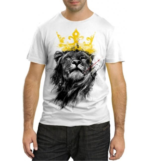Модная футболка Царь Лев