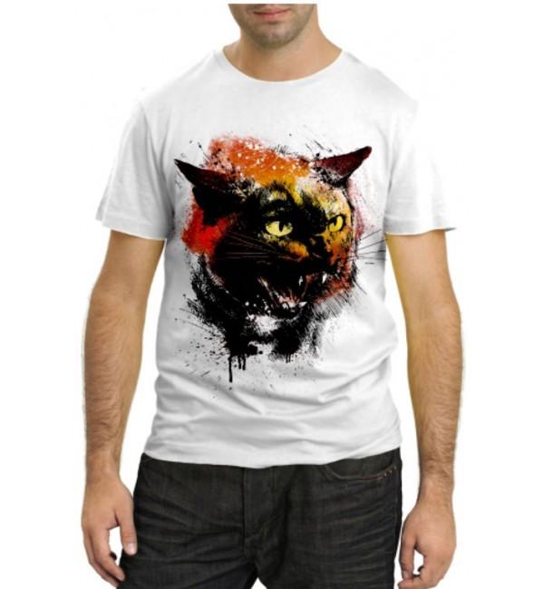 Модная футболка Сердитая кошка