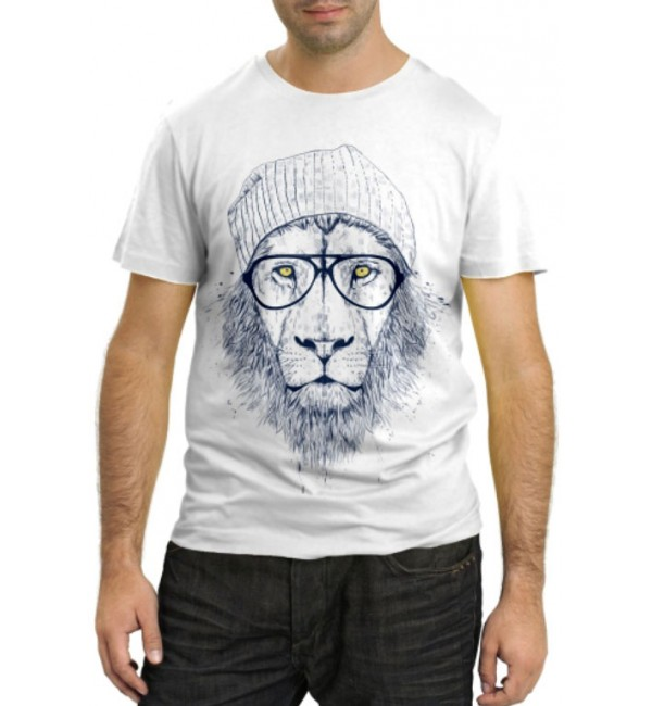 Модная футболка Лев спортсмен