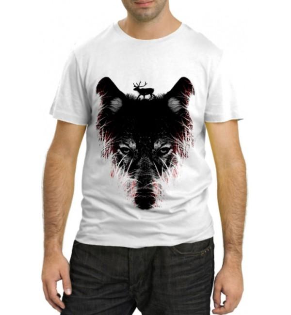 Модная футболка Волчара охотник