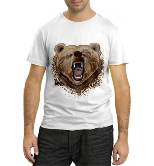 Модная футболка Медведь оскал