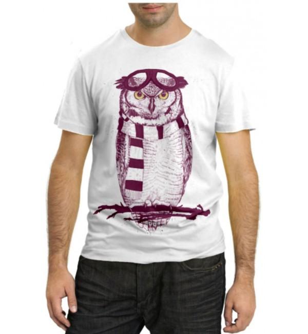 Модная футболка Филин на ветке