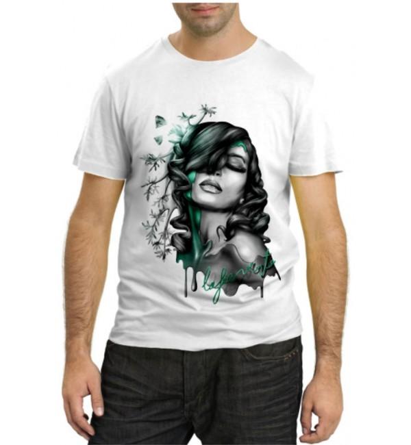 Модная футболка Девушка портрет