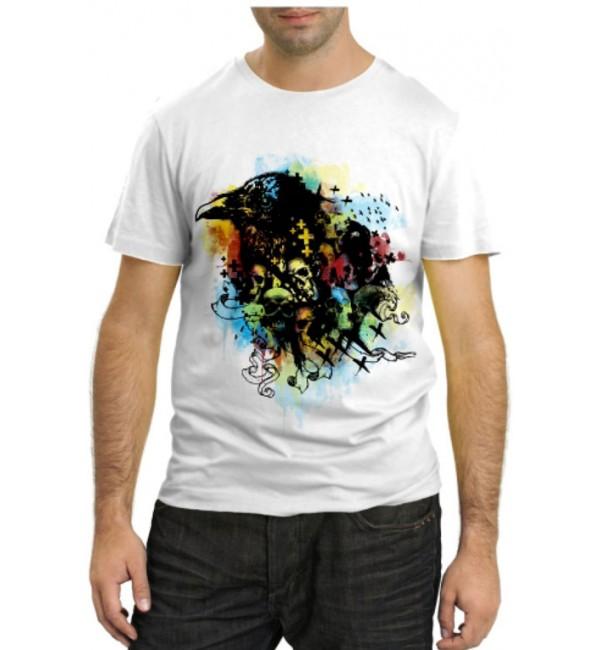 Модная футболка Ворон