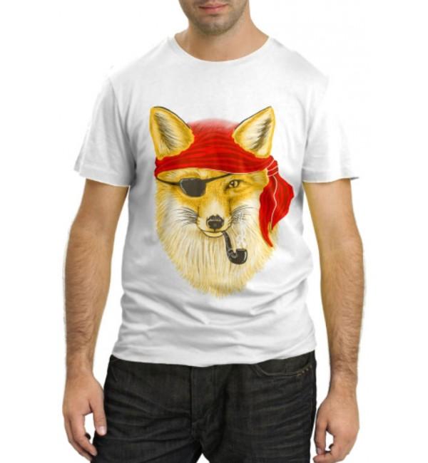Модная футболка Лиса пират