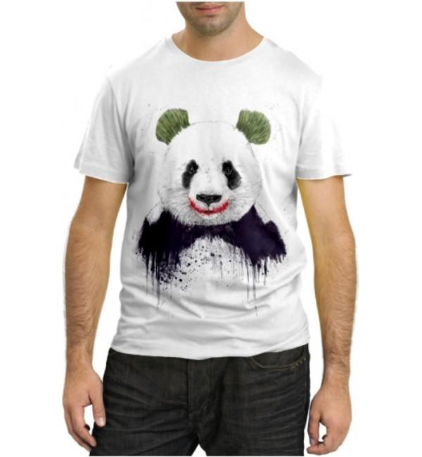 Модная футболка Panda Why so serious?