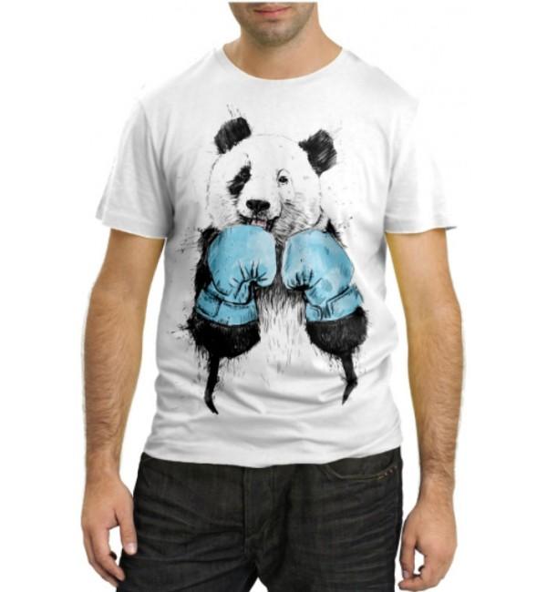 Модная футболка Медведь боксер
