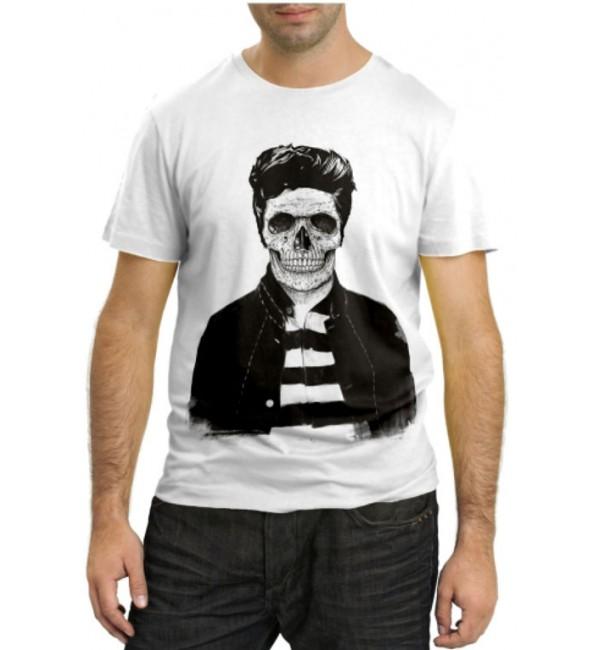 Модная футболка Мужик скелет