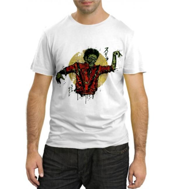 Модная футболка Майкл Джексон Зомби