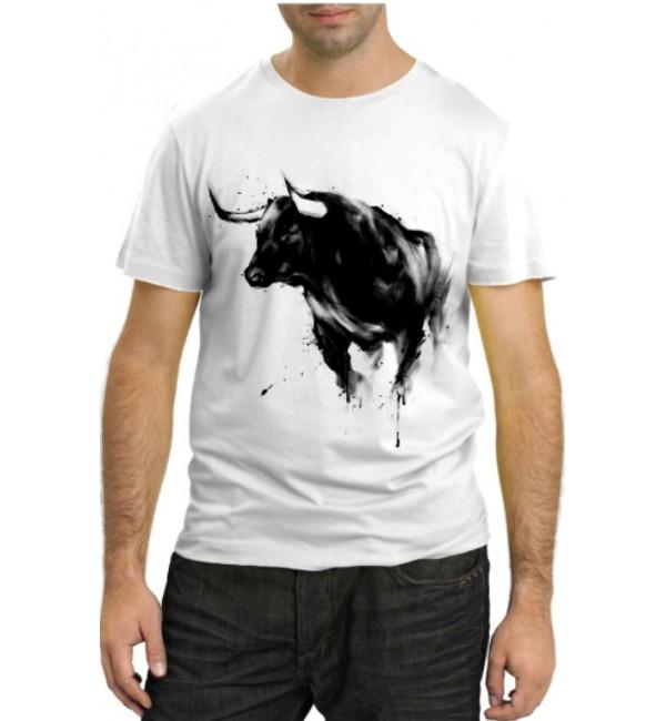 Модная футболка Бык