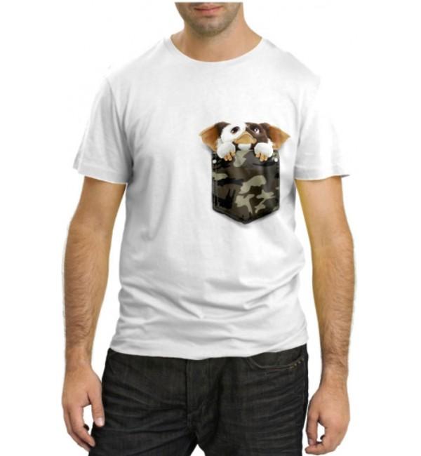 Модная футболка Щеночек в кармашке