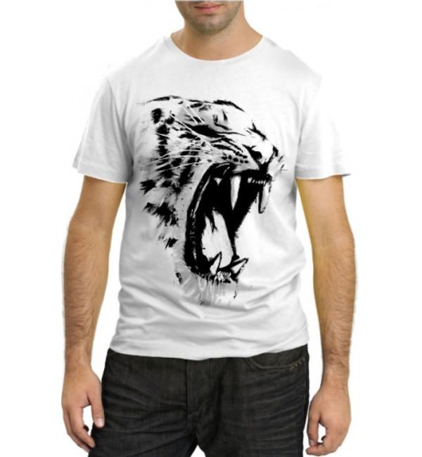 Модная футболка Тигр оскал