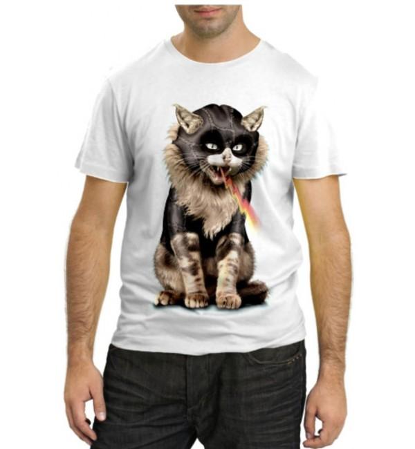 Модная футболка Кот в маске