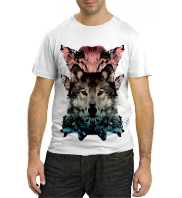 Модная футболка Волки