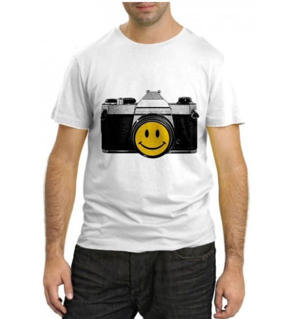 Модная футболка Фотоаппарат смайл