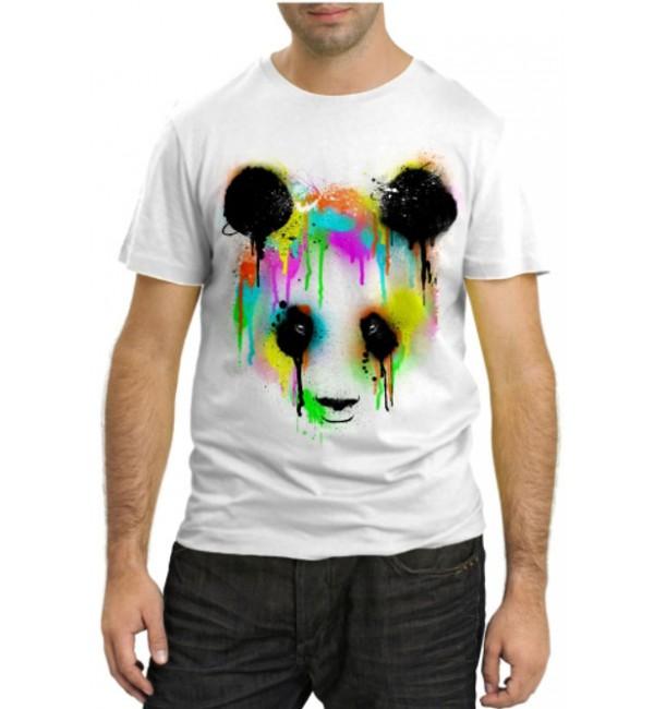 Модная футболка Панда в красках