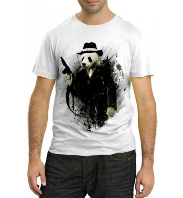 Модная футболка Панда гангстер