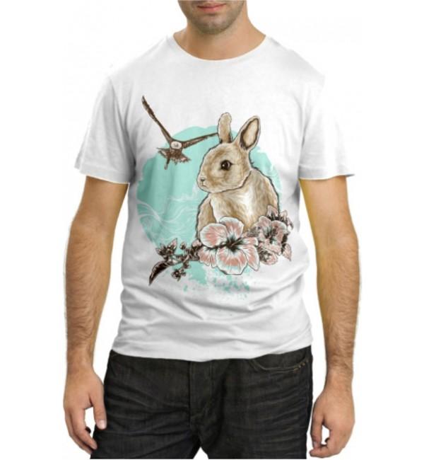Модная футболка Кролик