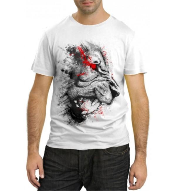 Модная футболка Лев в ярости