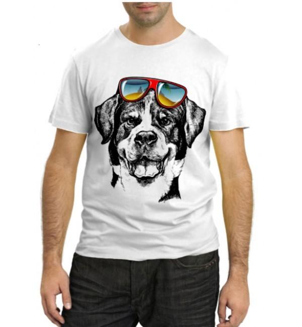 Модная футболка Пес с очками