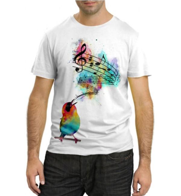 Модная футболка Птичка певчая
