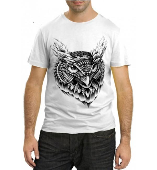 Модная футболка Голова Совы