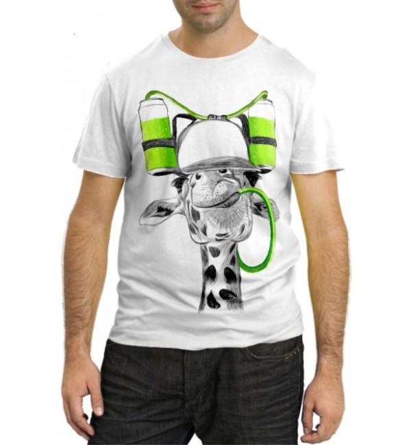 Модная футболка Жираф в бейсболке