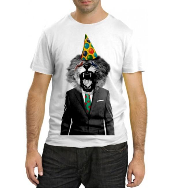 Модная футболка Человек-Лев клоун