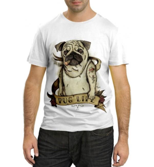 Модная футболка Pug Life
