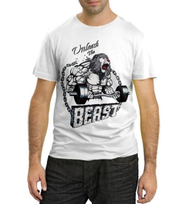 Модная футболка Unleash the Beast