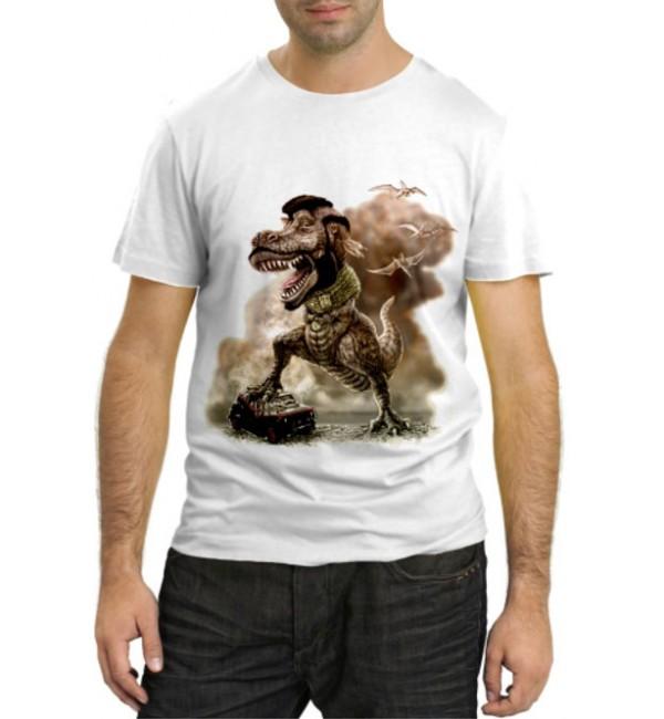 Модная футболка Динозавр Раптор