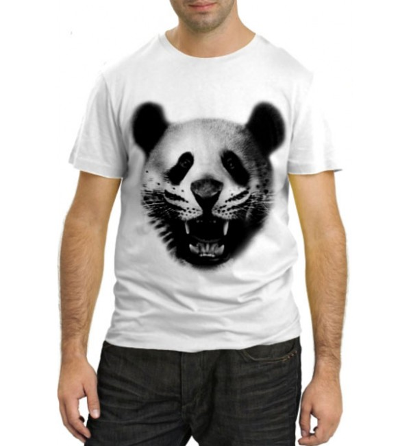 Модная футболка Панда-тигр