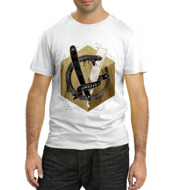 Модная футболка Кобра с бритвой