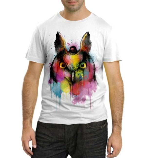 Модная футболка Сова в красках