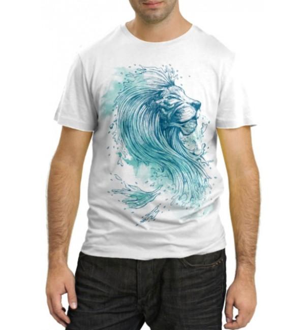 Модная футболка Лев из воды
