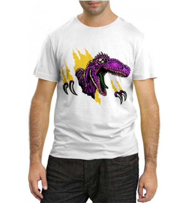 Модная футболка Динозавр разбушевался