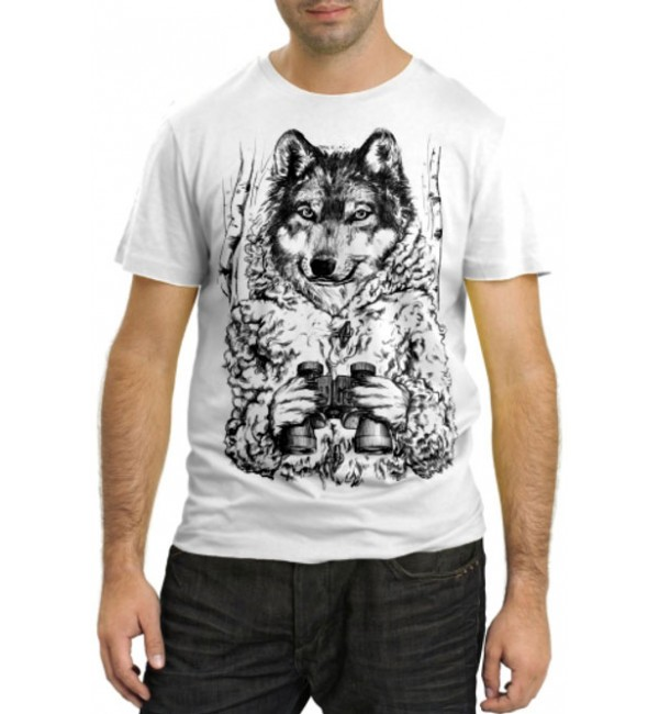 Модная футболка Волк в засаде