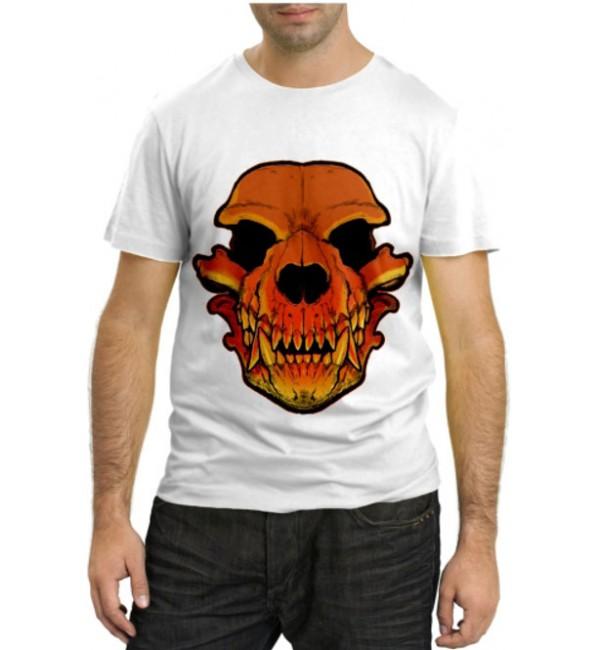 Модная футболка Череп динозавра