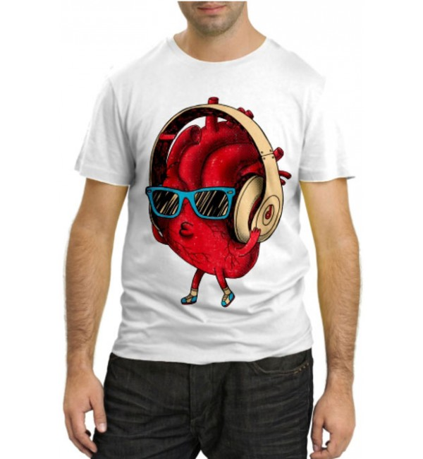 Модная футболка Сердце меломана
