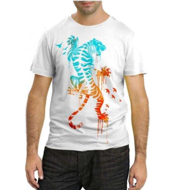 Модная футболка Тигро-ящерица