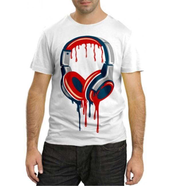 Модная футболка Наушники