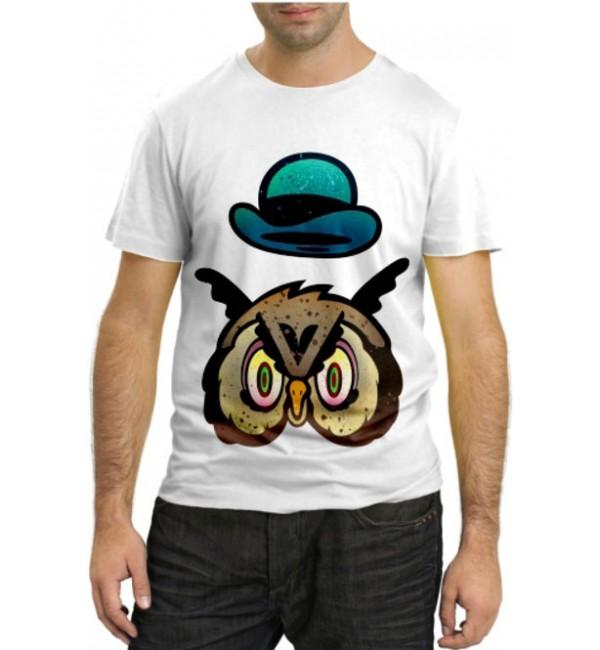 Модная футболка Сова в котелке