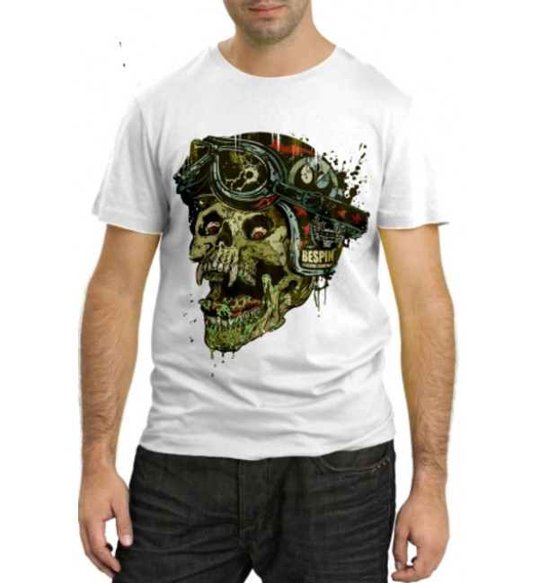 Модная футболка Череп в шлеме