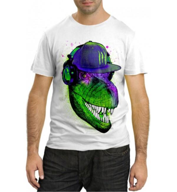 Модная футболка Динозавр монстер энерджи