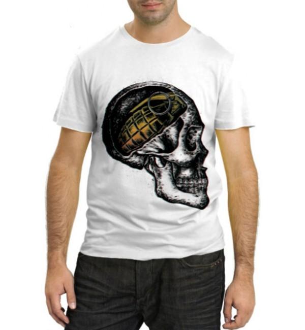 Модная футболка Череп с гранатой