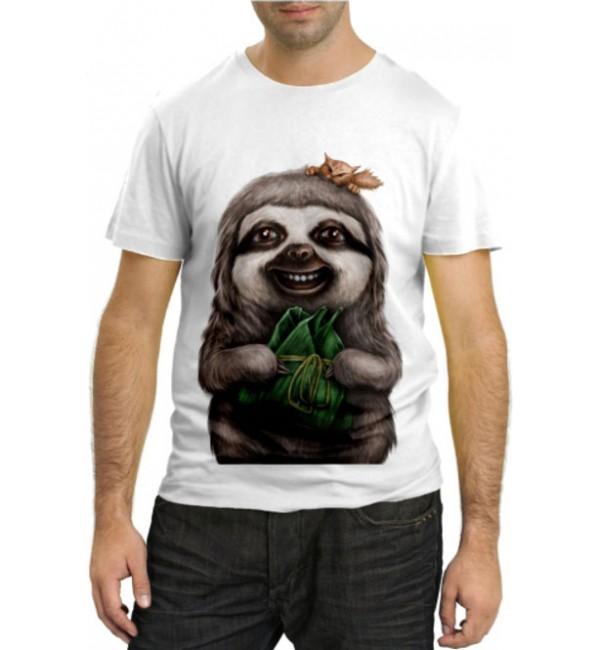 Модная футболка Ленивец самка