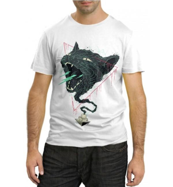 Модная футболка Дух злой кошки