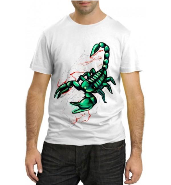 Модная футболка Зеленый скорпион