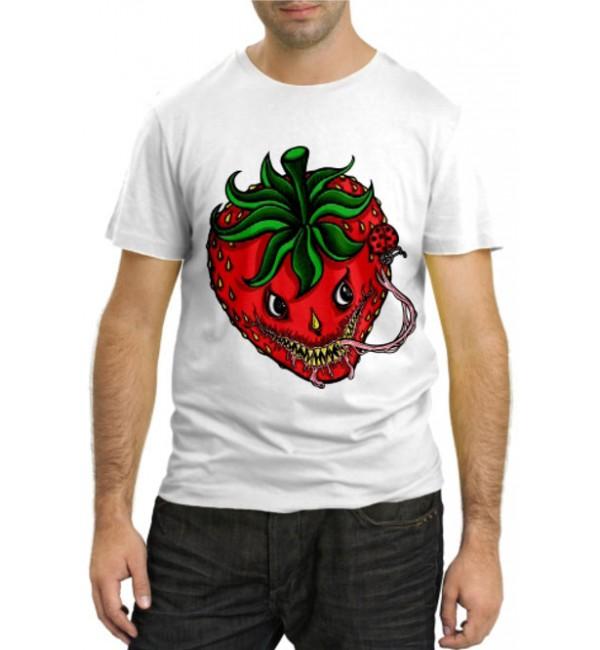 Модная футболка Злая клубничка